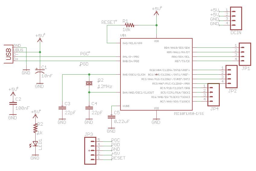 USB Development Board - schematic