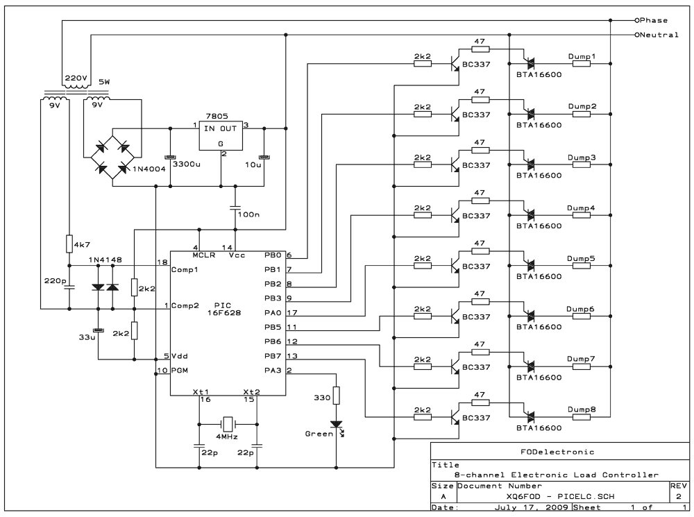 PIC hydro system controller - schematic
