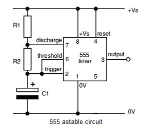 A 555 circuit - schematic