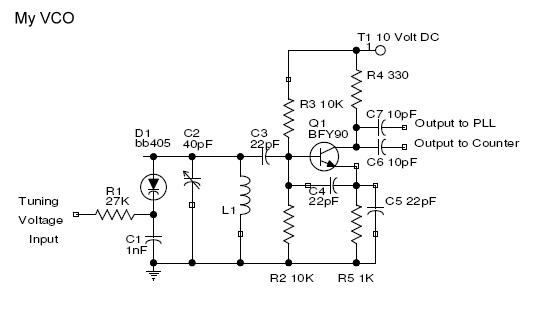 BFY90 VHF VCO - schematic
