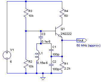 NPN Colpitts oscillator base coil - schematic