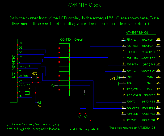 avr ntp clock. - schematic