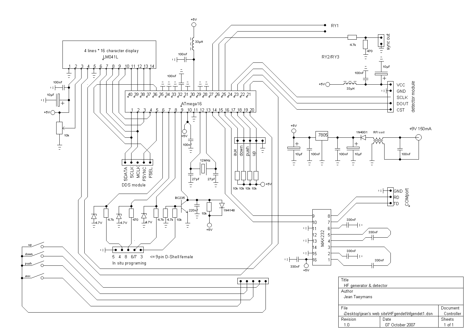 Results Page 5 About 433 Mhz Searching Circuits At Function Generator Schematic In Addition Avr Circuit Diagram Hf Gendet