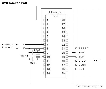 AVR Programmer with ATMega8-16 - img1