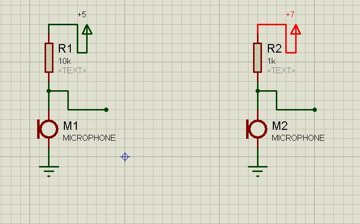 find the output of capacitor microphone in theory or augur - schematic