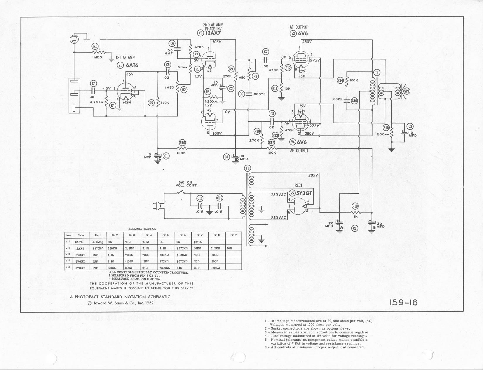 Circuits Restoration Project Webster Chicago 166 1 L53390 Ultrasonic Circuit Page 2 Audio Nextgr Schematic