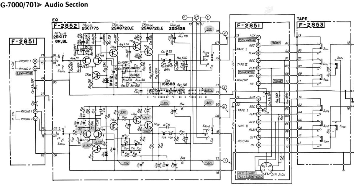 Sansui 7000 - schematic