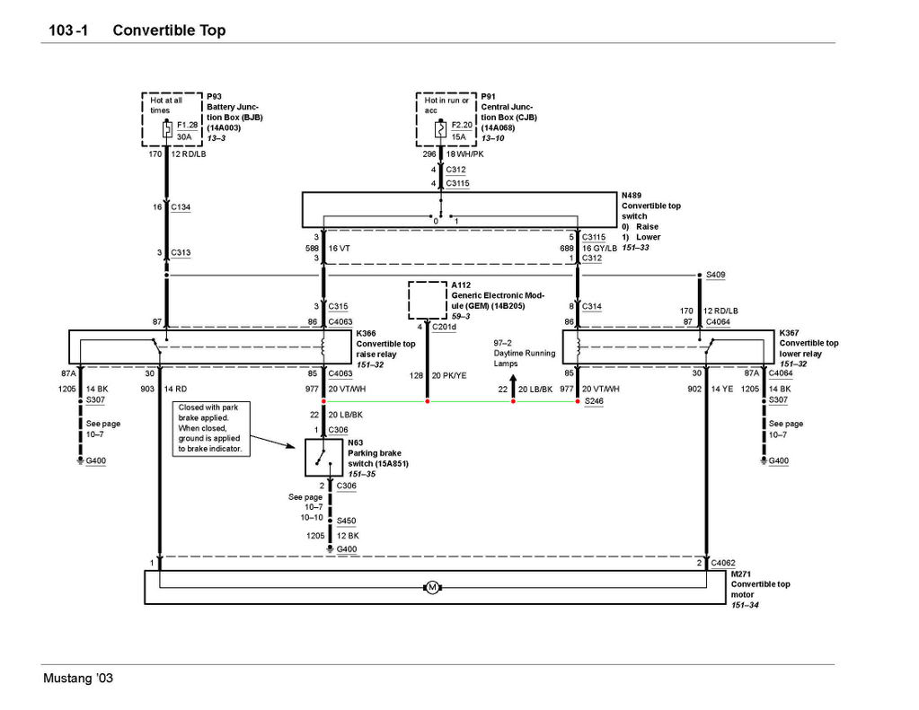 Wiring Diagram 2005 Mustang Conv Top