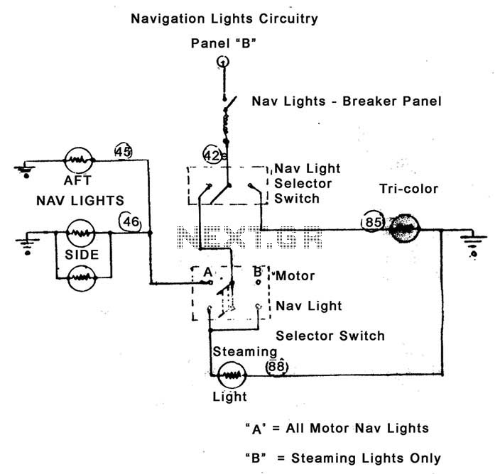 Wiring Diagram For Navigation Lights On A Boat from www.next.gr