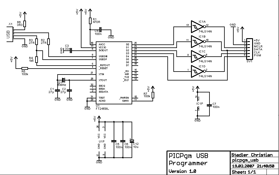 microcontroller programmer circuit page 4