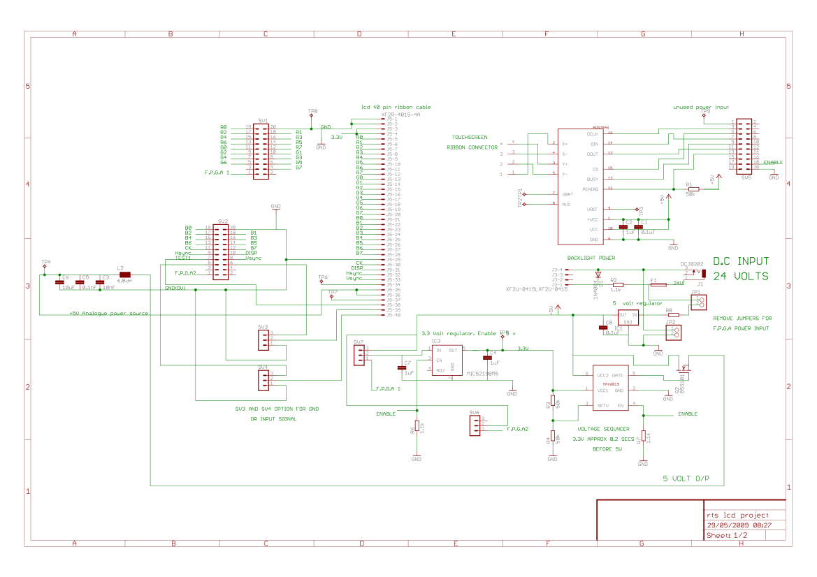 lcd interface - schematic