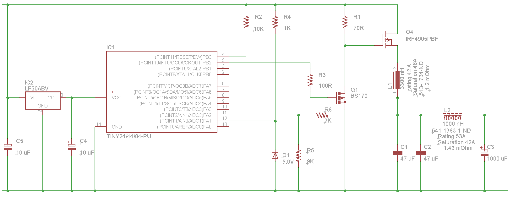 Top Circuits Page 108 Lm386 As Speaker Tester Circuit Diagram Automotivecircuit Schematics Buck Switching Regulator Based On Attiny84a Please Critique