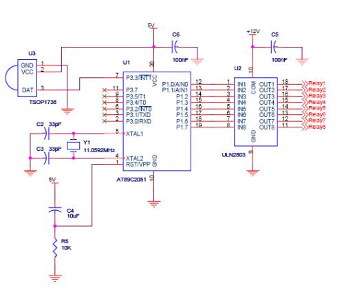 ir decoder for general purpose - schematic