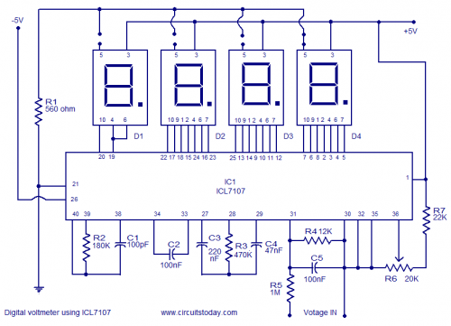 Digital Multimeter Using 8051 L33421 on parallel resistance arduino