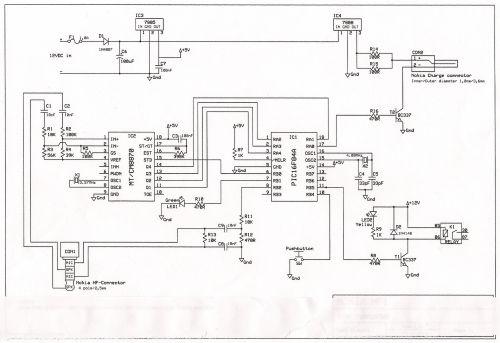 dtmf decoder interface nokia 1600 headphone pin - schematic