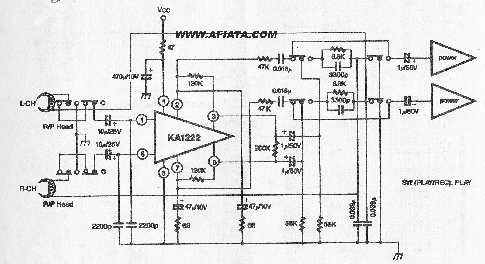 Audio Preamplifiers Circuits Page 6 Filter Circuit 5 Nextgr Stereo Preamp Schematic