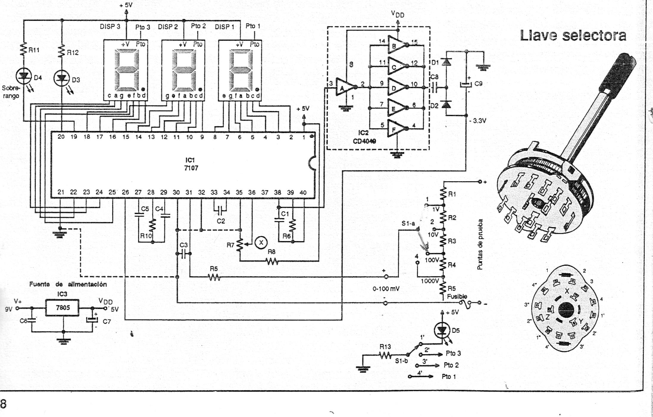 Popular Circuits Page 208 Circuit Schematics Wiring Diagram Schema Electronic Projects Segment Led Using L7107 Cut Off Low