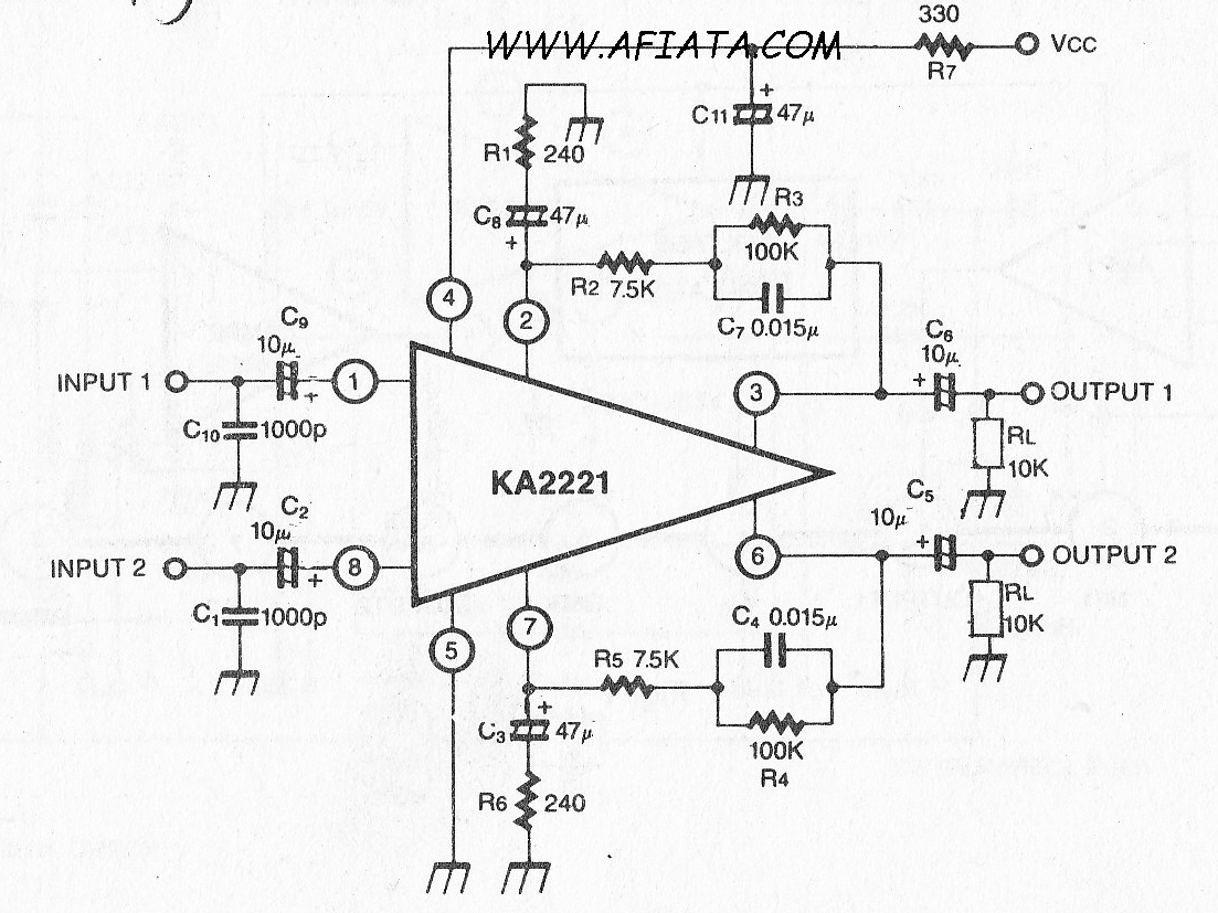 New Circuits Page 58 Opamp Titles And Descriptions Circuit Diagram Tradeofic Dual Low Noise Equalizer Amplifier