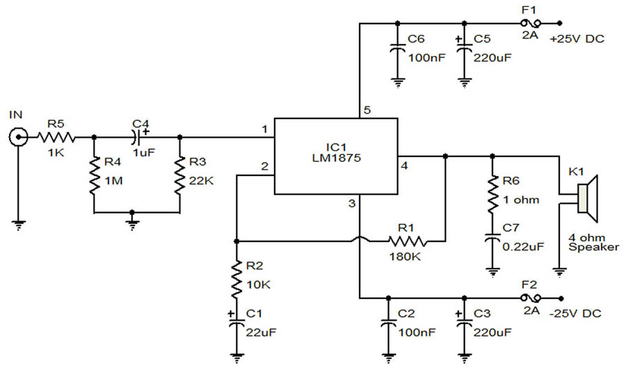 20 watt audio amplifier W Ampl Aged