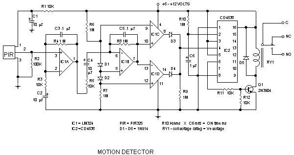infrared motion detector - schematic