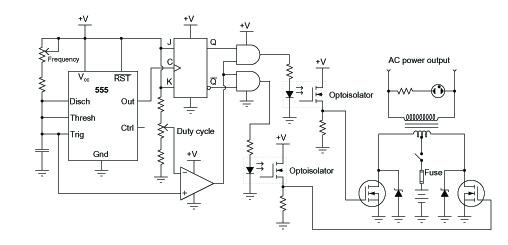 inverter circuit diagram - schematic