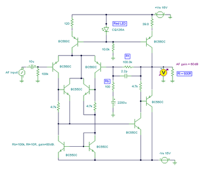 head preamplifier circuit - schematic