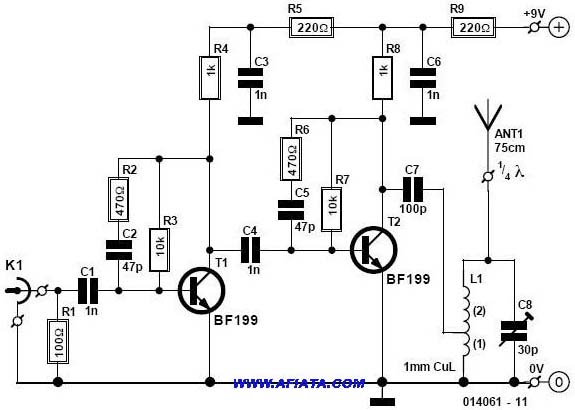 fm radio receiver circuit with ic tda 7012t t