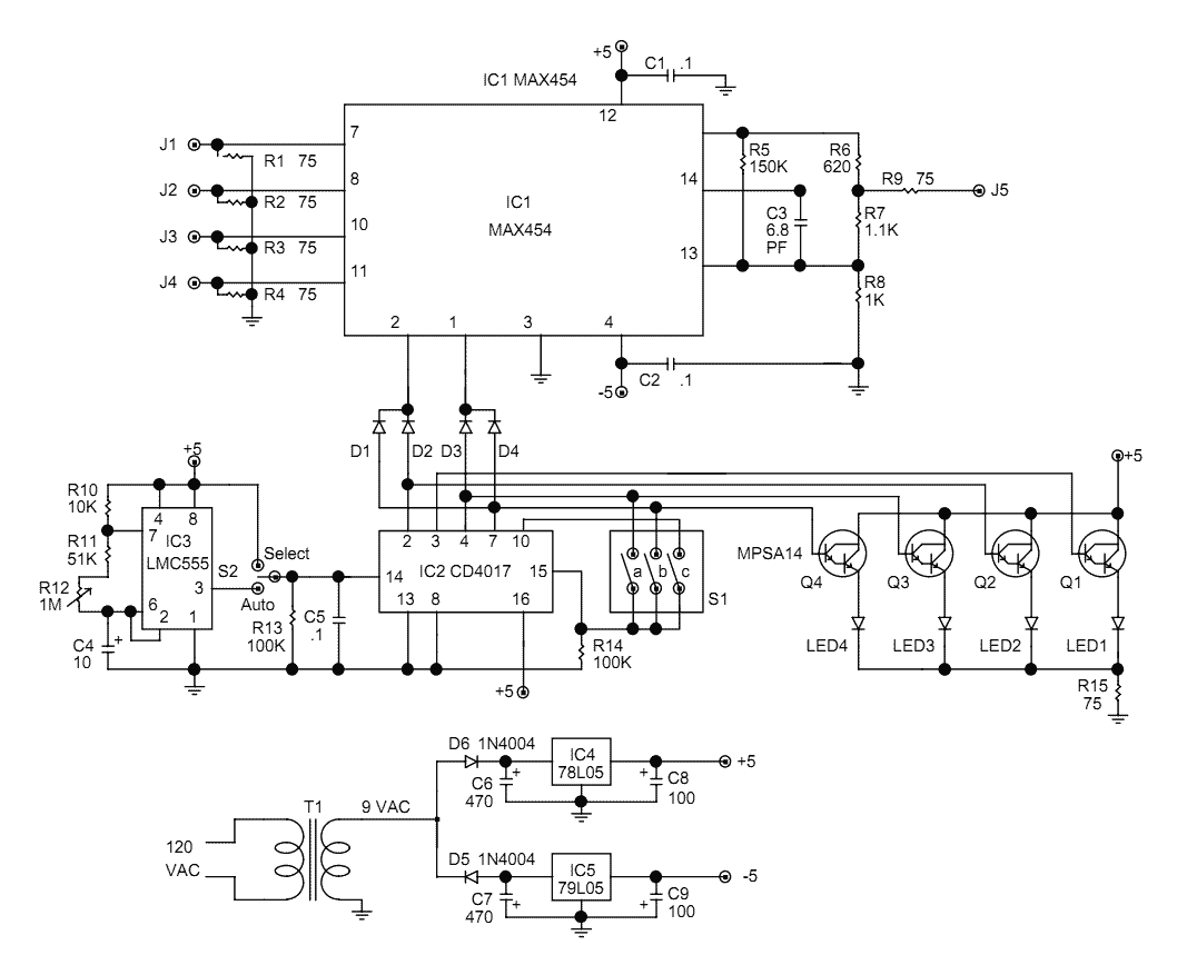 Decoder circuit page 2 digital circuits next video camera switcher max454 asfbconference2016 Gallery