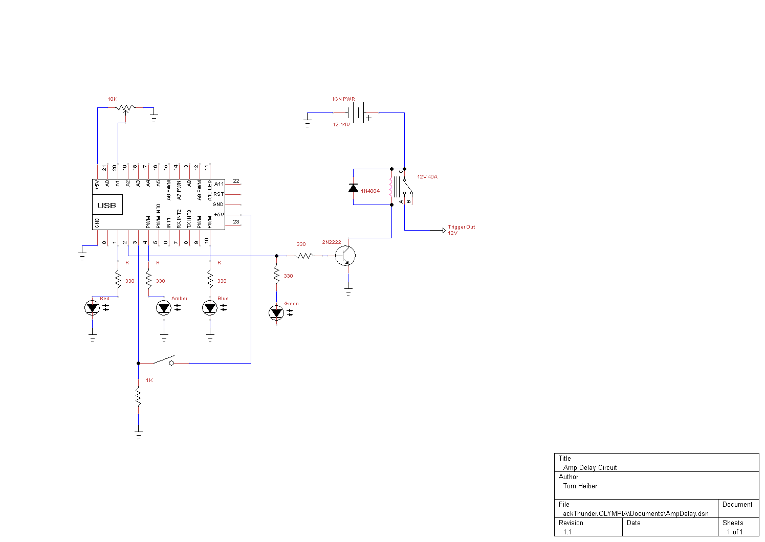 smart amp delay - schematic