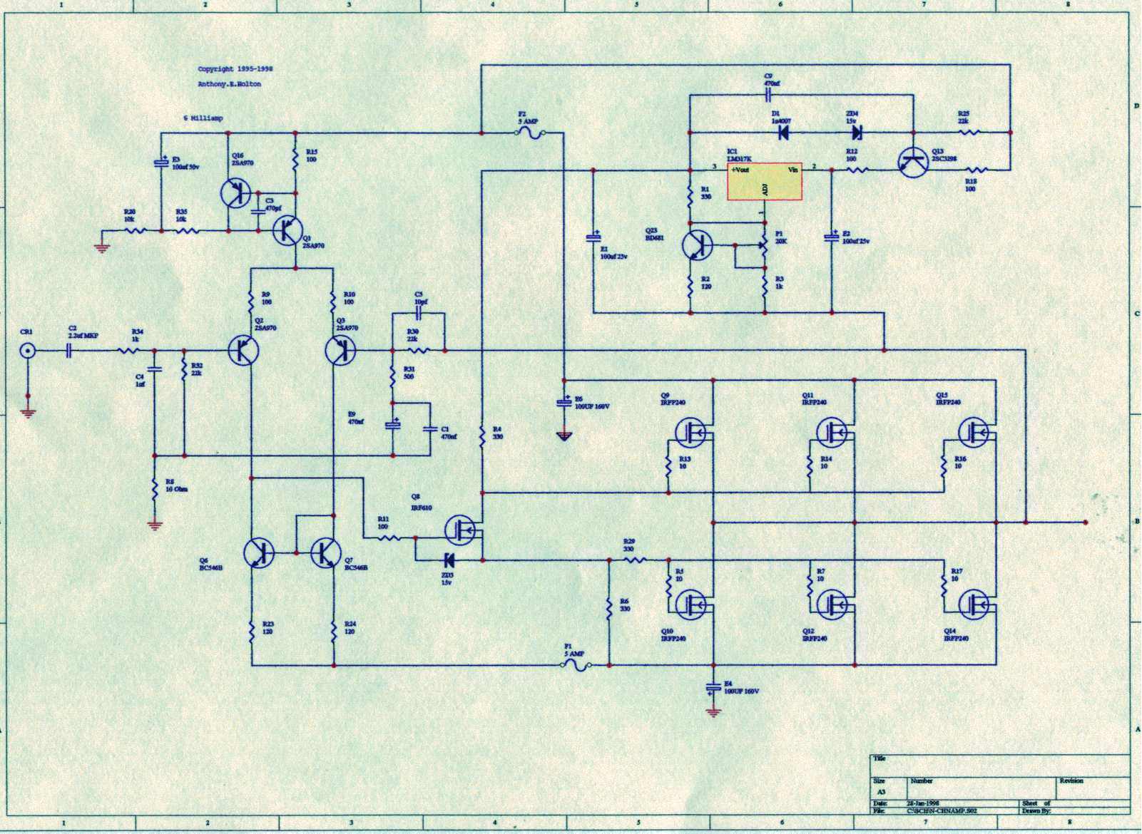 Results Page 37 About Uhf Amplifier Searching Circuits At Figure 1 Schematic For A Stereo Btl Classd Power The Circlomos