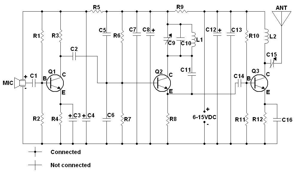 fm bug - schematic
