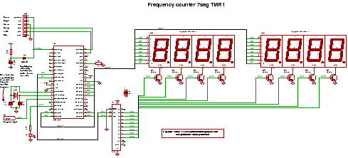 frequency counter circuit - schematic