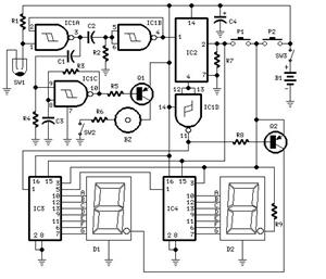 logic circuit diagram - schematic