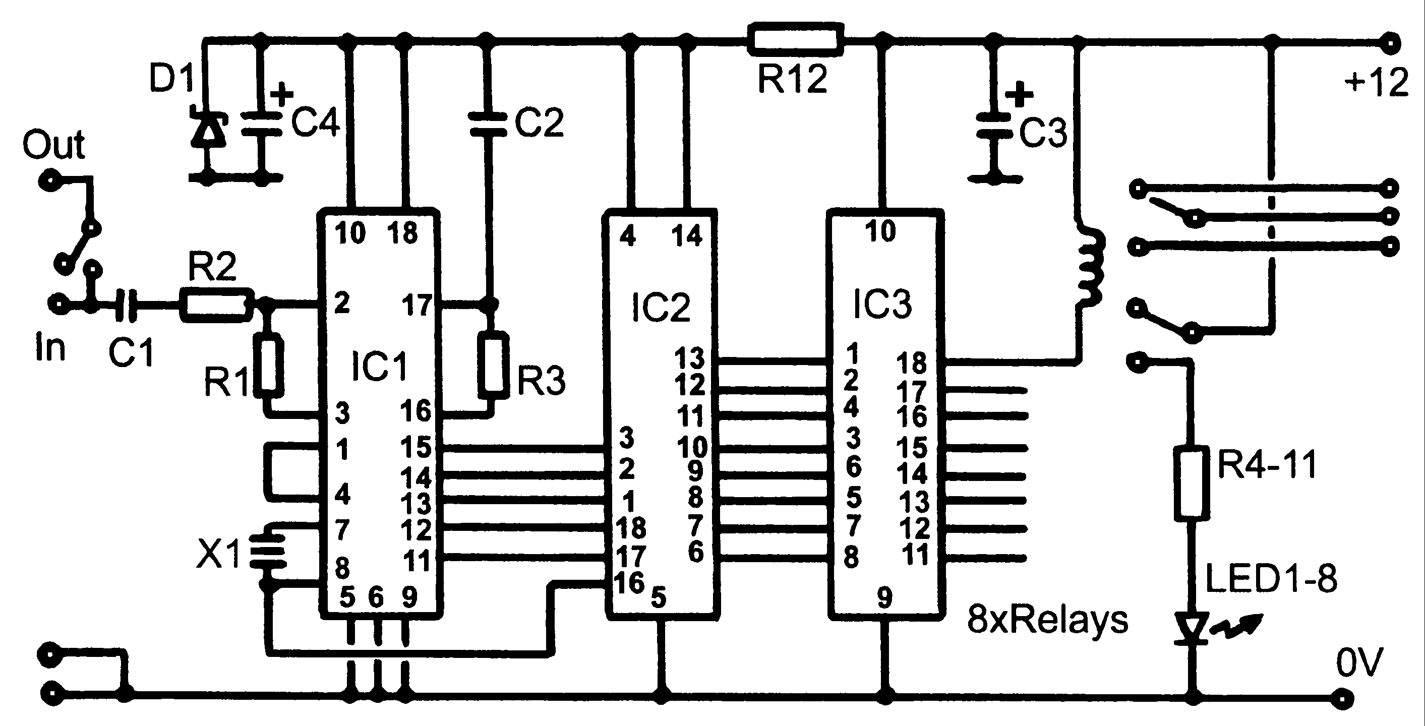Dtmf Circuit Telephone Circuits Relay Working Pdf Control