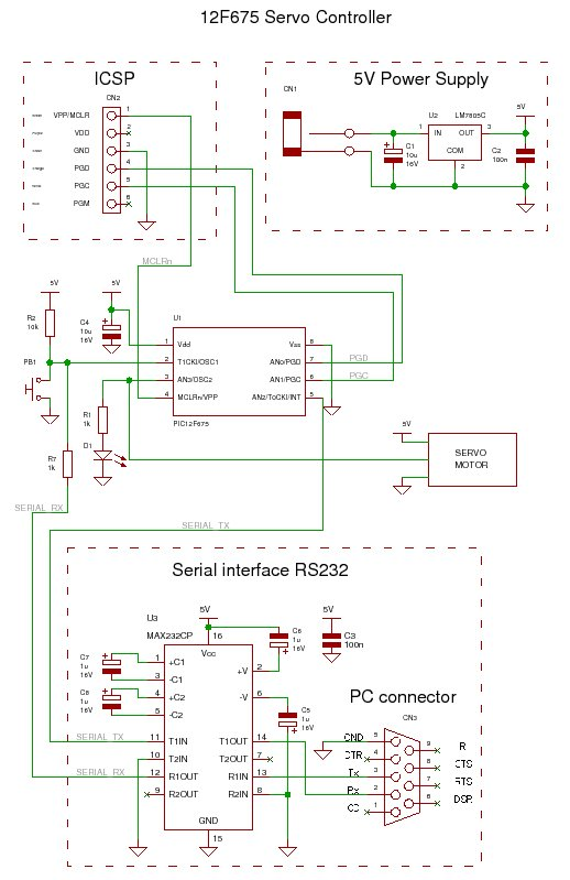 servo controller - schematic