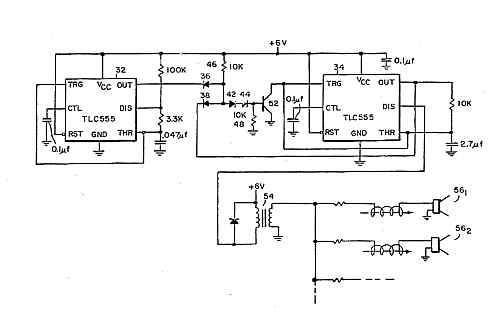 ultrasonic tracking system - schematic