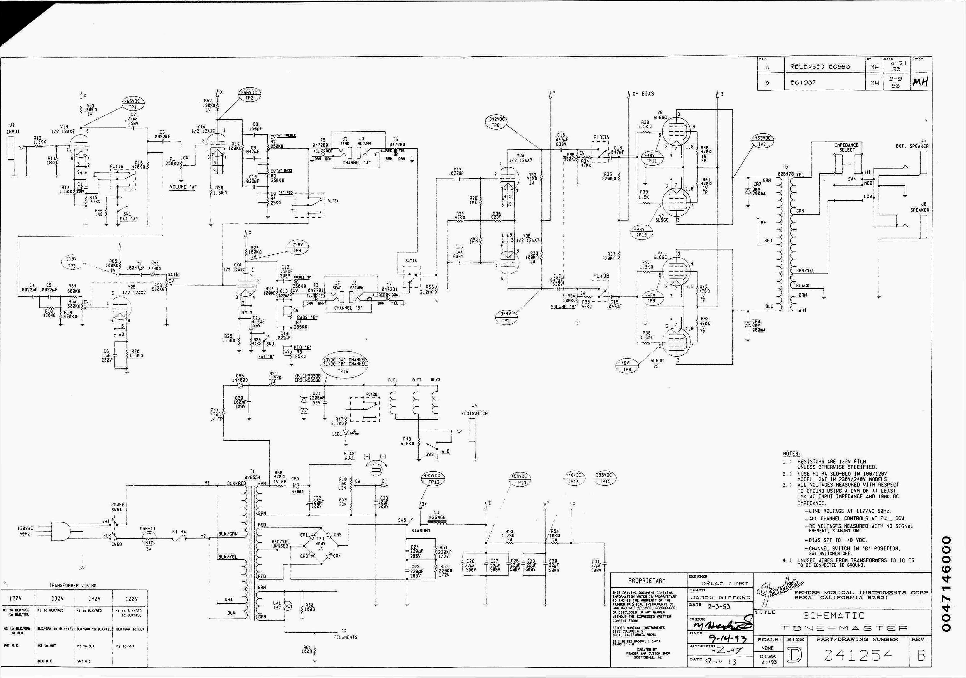 Blue Guitar Schematics - schematic