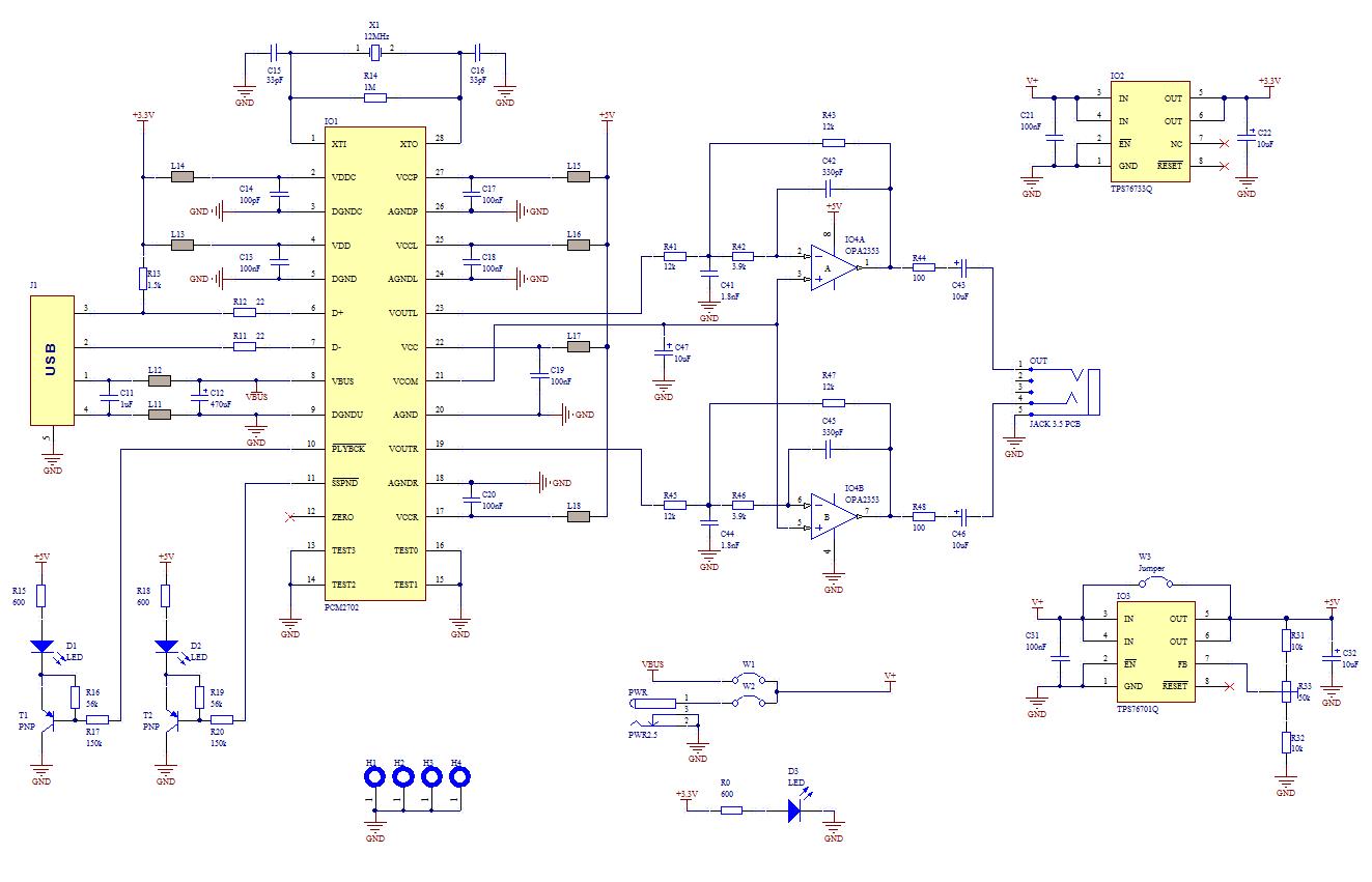 USB Sound Card - schematic