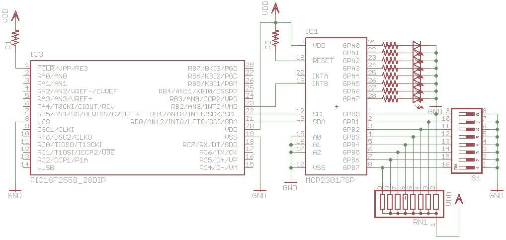 I2C using (MSSP) - schematic