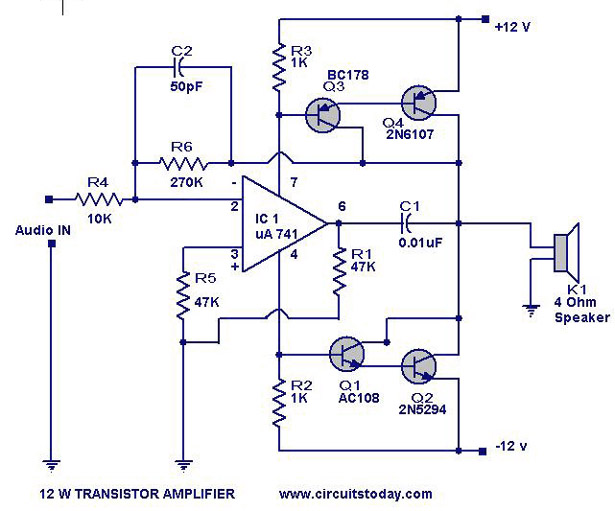 gt  circuits  gt  transistor amplifier circuit with diagram for transistor wire diagram transistor wiring diagram 12 volt