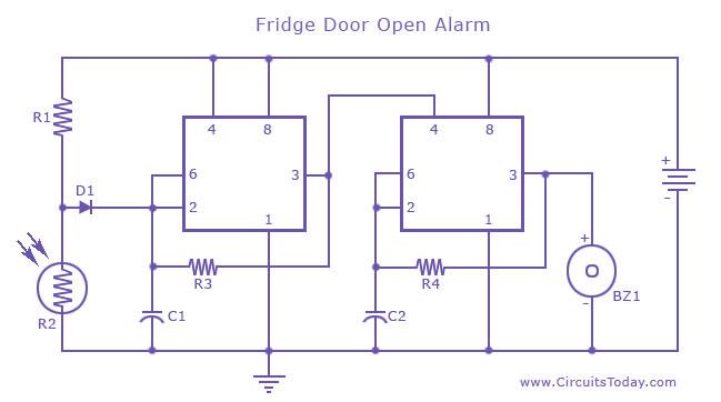 alarm circuit page 8 security circuits next gr rh next gr GE Refrigerator Schematic Diagram Refrigerator Start Relay Wiring Diagram