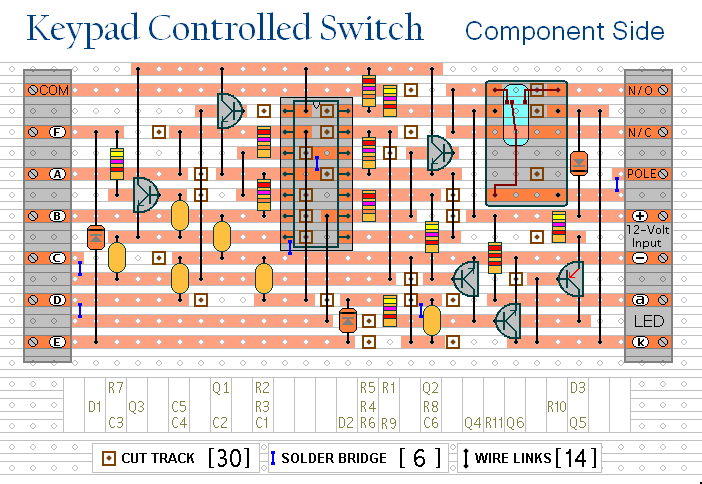 4 digit keypad controlled switch - schematic