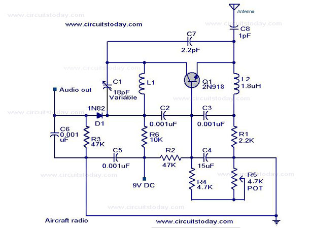 Simple Aircraft Radio Circuitworking Under Repository