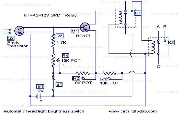 Automatic Headlight Dim Switch
