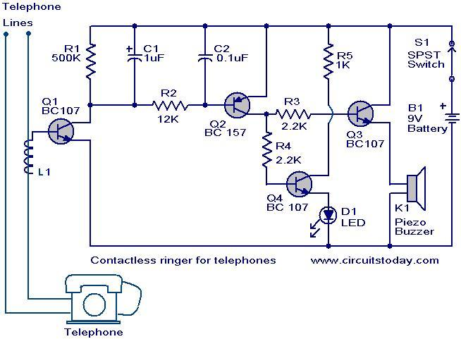 contactless telephone ringer_circuit telephone circuit page 6 telephone circuits next gr Residential Telephone Wiring Diagram at bakdesigns.co