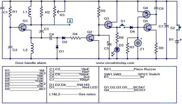 alarm circuit page 8 security circuits next gr rh next gr Mixer Circuit Schematic Clock Circuit Schematic