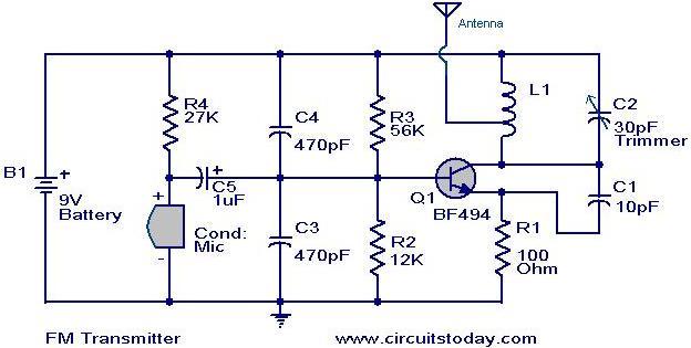 Am Radio Transmitter Circuit Diagram - Wiring Diagram and Schematics
