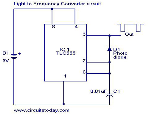 Light to Frequency converter - schematic