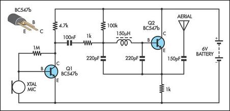 how to build simple am transmitter - schematic