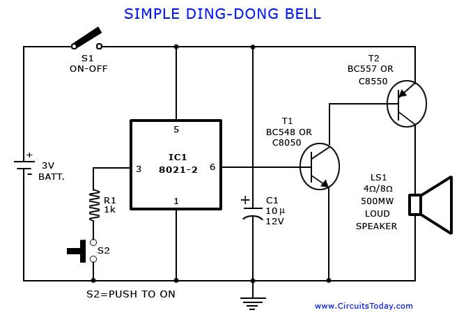 Gt Circuits Gt Tone Generator Circuit Simple Calling Bell